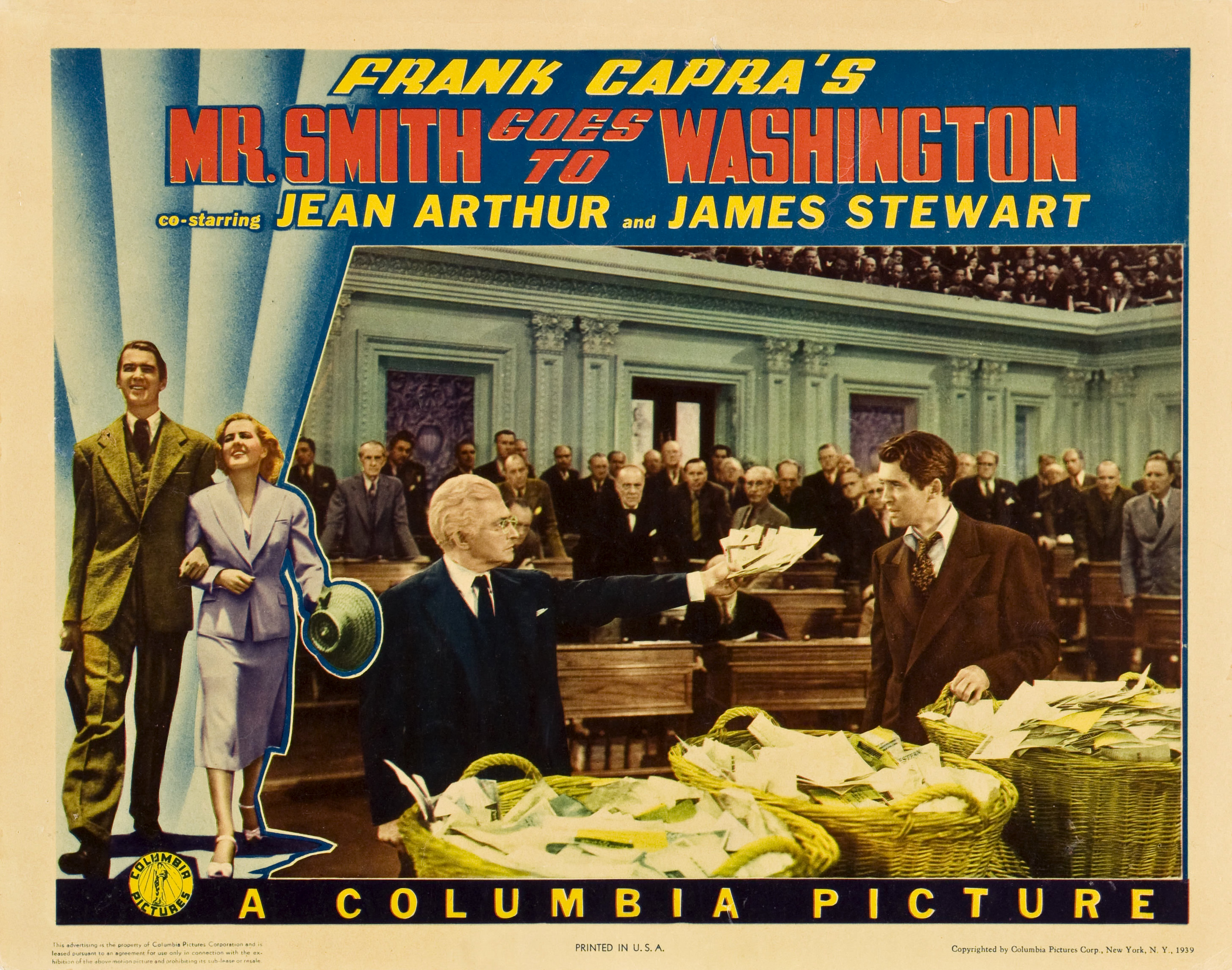 """Mr. Smith Goes to Washington"" movie poster, 1939"